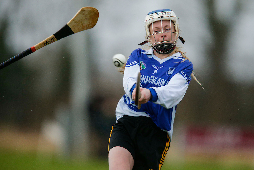 All Ireland Schools Senior B Camogie Quarter Final at Dunganny, Meath, 30th January 2016.<br /> Dunshaughlin CC vs Mercy Roscommon<br /> Megan Thyne in action for Dunshaughlin CC<br /> Photo: David Mullen /www.cyberimages.net / 2016