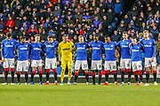 Rangers FC paying their respects ahead of the William Hill Scottish Cup quarter final replay match between Rangers and Aberdeen at Ibrox, Glasgow, Scotland on 12 March 2019.