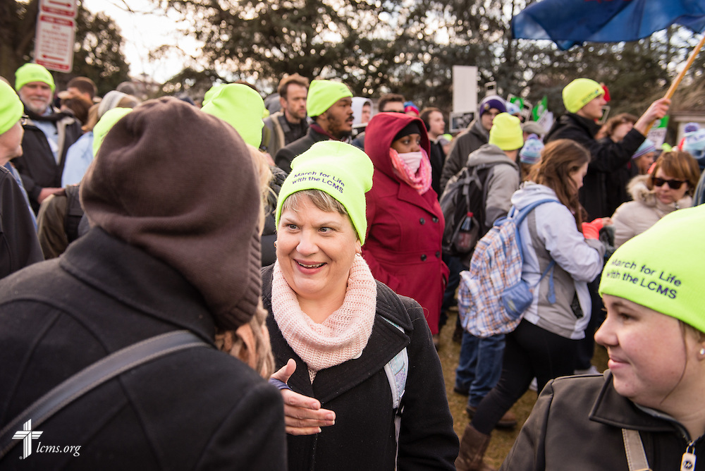 Kim Laube, director of pregnancy counseling and adoption services at Lutheran Family Service, marches in the 2015 March for Life on Thursday, Jan. 22, 2015, in Washington, D.C. LCMS Communications/Erik M. Lunsford