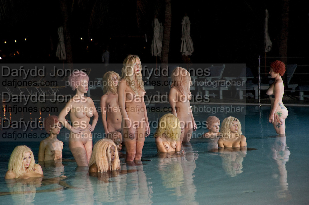 "MODELS PERFORMING VANESSA BEECHCROFT INSTALLATION, Neville Wakefield and Playboy host ÒNude as MuseÓ evening art salon. Standard Hotel.  Miami. 4 December 2010. -DO NOT ARCHIVE-© Copyright Photograph by Dafydd Jones. 248 Clapham Rd. London SW9 0PZ. Tel 0207 820 0771. www.dafjones.com.<br /> MODELS PERFORMING VANESSA BEECHCROFT INSTALLATION, Neville Wakefield and Playboy host ""Nude as Muse"" evening art salon. Standard Hotel.  Miami. 4 December 2010. -DO NOT ARCHIVE-© Copyright Photograph by Dafydd Jones. 248 Clapham Rd. London SW9 0PZ. Tel 0207 820 0771. www.dafjones.com."