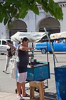 Street vendor in Havana, Cuba.