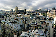 France. Paris. 4th district. elevated view. panoramic view. Saint Gervais church, Saint Protee, the pantheon. view from the  Gervais