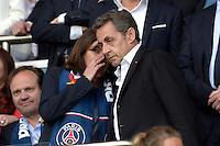 Anne Hidalgo / Nicolas Sarkozy - 23.05.2015 - PSG / Reims - 38eme journee de Ligue 1<br /> Photo : Andre Ferreira / Icon Sport