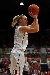 Dec 20, 2011; Stanford CA, USA;  Stanford Cardinal forward Taylor Greenfield (4) shoots a three point jump shot against the Tennessee Lady Volunteers during the second half at Maples Pavilion.  Stanford defeated Tennessee 97-80. Mandatory Credit: Jason O. Watson-US PRESSWIRE