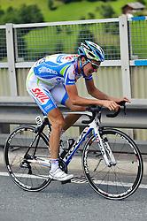 06.07.2011, AUT, 63. OESTERREICH RUNDFAHRT, 4. ETAPPE, MATREI-ST. JOHANN, im Bild Etappensieger und Glocknerkoenig Alexandre Geniez, (FRA, Skil Shimano) // during the 63rd Tour of Austria, Stage 4, 2011/07/06, EXPA Pictures © 2011, PhotoCredit: EXPA/ S. Zangrando