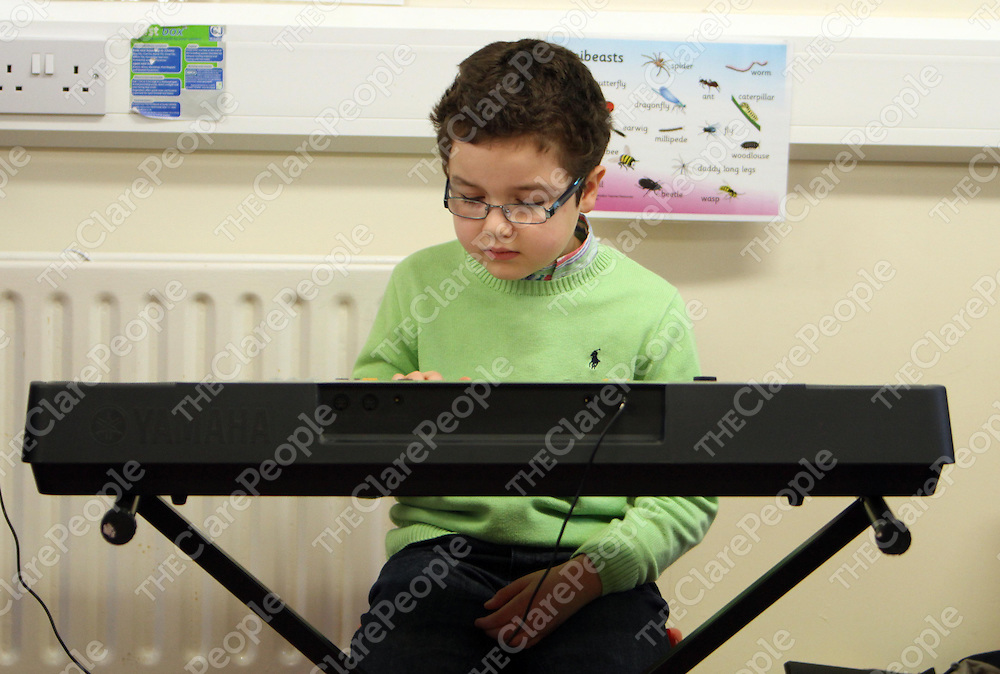 Adib Collot at the Joseph Browne Spring School of Traditional Music in Kinvara at the weekend.<br /> <br /> Photograph by Press 22