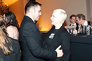 ROLAND MOURET; ANNIE LENNOX, Harpers Bazaar Women of the Year Awards. North Audley St. London. 1 November 2010. -DO NOT ARCHIVE-© Copyright Photograph by Dafydd Jones. 248 Clapham Rd. London SW9 0PZ. Tel 0207 820 0771. www.dafjones.com.
