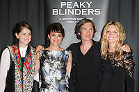 Sophie Rundle; Helen McCrory; Cillian Murphy; Annabelle Wallis, Gala Screening of episode 1 of new BBC Two gangster drama 'Peaky Blinders', BFI Southbank, London UK, 21 August 2013, (Photo by Richard Goldschmidt)
