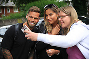 Dom Lever and Jess Shears Love Island with fans during the Joe Thompson's Allstars v Joe Thompson's Celebrity 11 in Rochdale at the Crown Oil Arena, Rochdale, England on 21 July 2019.