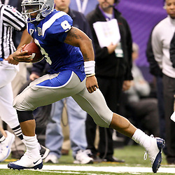Dec 20, 2009; New Orleans, LA, USA; Middle Tennessee State Blue Raiders quarterback Dwight Dasher (9) runs with the ball during the second half of the 2009 New Orleans Bowl at the Louisiana Superdome. Middle Tennessee State defeated Southern Miss 42-32. Mandatory Credit: Derick E. Hingle-US PRESSWIRE