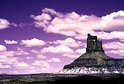 Candlestick Formation, White Rim Trail, Canyonlands National Park, Utah, Color Infrared Film