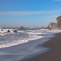 Crashing waves at Wilson Creek Beach, Redwoods National Park