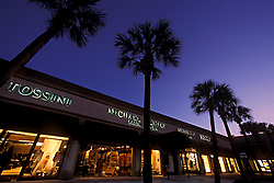 Stock photo of the upscale shops of Highland Village in Houston Texas