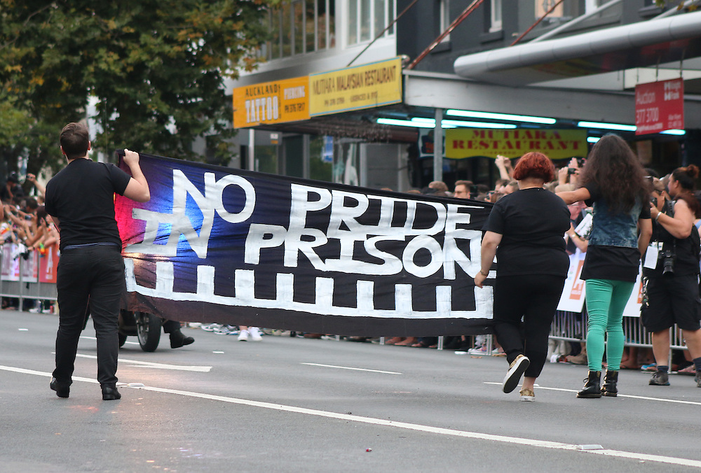 Auckland's annual Gay Pride Parade takes to the streets of Ponsonby, Auckland, New Zealand, Saturday, February 21, 2015. Credit:SNPA / Matt Hunter