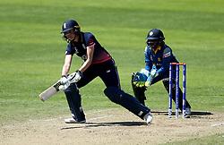 Sarah Taylor of England Women plays an improvised shot to score four more runs - Mandatory by-line: Robbie Stephenson/JMP - 02/07/2017 - CRICKET - County Ground - Taunton, United Kingdom - England Women v Sri Lanka Women - ICC Women's World Cup Group Stage