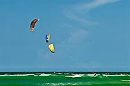 Florida, Ft George, Huguenot Memorial Park, Kite Surfing