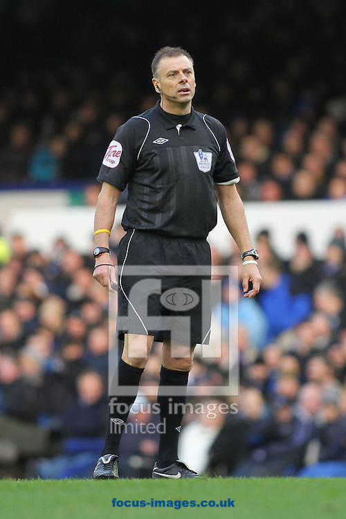 Picture by MIchael Sedgwick/Focus Images Ltd. 07900 363072.21/01/12.Referee Mark Halsey during the game between Everton and Blackburn Rovers in the Barclays Premier League match at Goodison Park stadium, Liverpool.