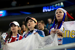 Supporters from Russia during futsal match between National teams of Kazakhstan and Russia at Day 5 of UEFA Futsal EURO 2018, on February 3, 2018 in Arena Stozice, Ljubljana, Slovenia. Photo by Urban Urbanc / Sportida