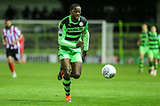 Forest Green Rovers Shamir Mullings(14) runs forward during the EFL Sky Bet League 2 match between Forest Green Rovers and Lincoln City at the New Lawn, Forest Green, United Kingdom on 12 September 2017. Photo by Shane Healey.