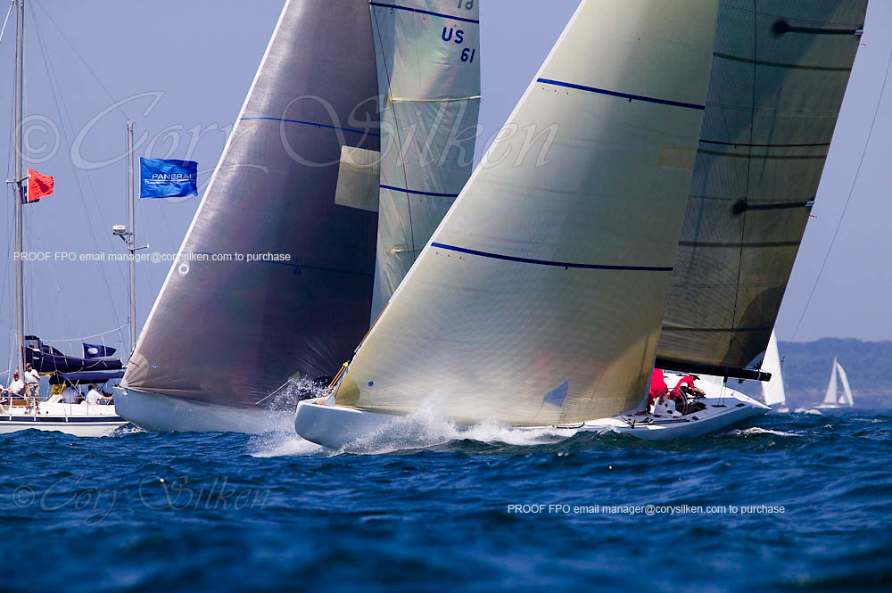 Wright on White  at the Museum of Yachting 12 Meter Regatta