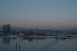 Oslo sunset/moonrise