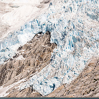 A portion of the Northwestern Glacier, located in the Kenai Fjords National Park, Alaska