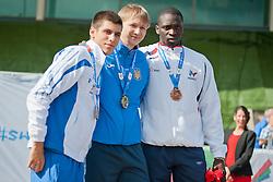 KAMARAS Konstantinos, SENYK Mykyta, TAMBADOU Moussa, 2014 IPC European Athletics Championships, Swansea, Wales, United Kingdom