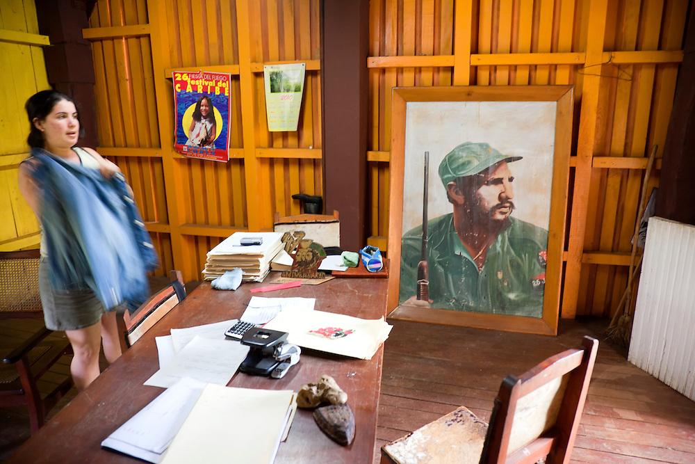 Poster of Fidel Castro in Biran, Holguin, Cuba.