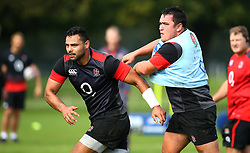 Ben Te'o andJamie George of England during the training Camp at St Edwards College in Oxford - Mandatory by-line: Robbie Stephenson/JMP - 26/09/2017 - RUGBY - England - England rugby training session