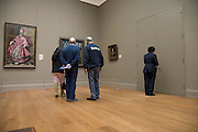 elderly tourist in the El Greco room at the Met in NYC