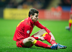 SWANSEA, WALES - Tuesday, March 26, 2013: Wales' Gareth Bale against Croatia during the 2014 FIFA World Cup Brazil Qualifying Group A match at the Liberty Stadium. (Pic by David Rawcliffe/Propaganda)