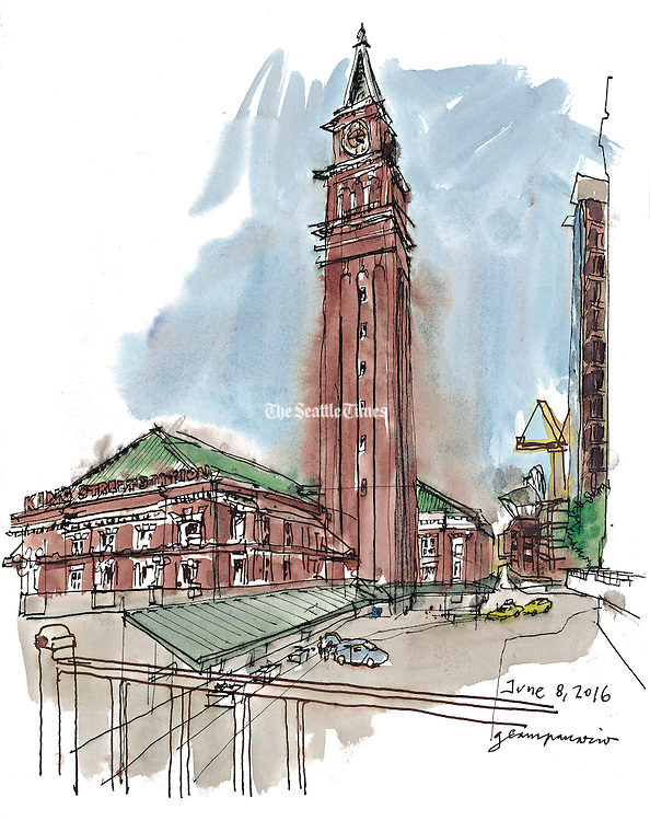 The future of King Street Station is looking better than ever, and not just as a vital transportation hub. The city plans to transform 17,000 square feet of its empty third floor into a major community arts center. (Gabriel Campanario / The Seattle Times)