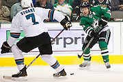 DALLAS, TX - OCTOBER 17:  Ray Whitney #13 of the Dallas Stars passes the puck against the San Jose Sharks on October 17, 2013 at the American Airlines Center in Dallas, Texas.  (Photo by Cooper Neill/Getty Images) *** Local Caption *** Ray Whitney