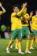 Gillingham - Tuesday October 6th, 2009:  Norwich players celebrate their victory at the end of the Johnstones Paint Trophy R2S match at the KRBS Priestfield, Gillingham, Kent. (Pic by Paul Chesterton/Focus Images)