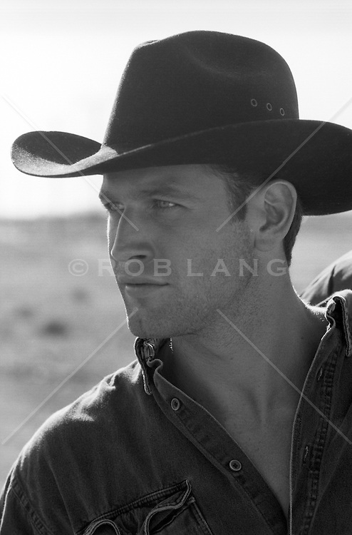 handsome all american cowboy