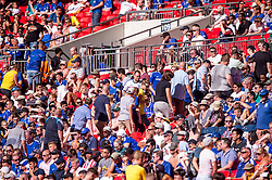 August 5, 2018 - Chelsea supporters abandon the stands 15 minutes before the final whistle during the 2018 FA Community Shield match between Chelsea and Manchester City at Wembley Stadium, London, England on 5 August 2018. (Credit Image: © AFP7 via ZUMA Wire)