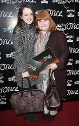 Downton Abbey actresses Sophie McShera and Lesley Nichol  arriving for the opening night of the West End production of the Broadway hit musical Once in London ,Tuesday, 9th April 9th 2013 Photo by: Stephen Lock / i-Images