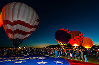 Morning glow, Albuquerque International Balloon Fiesta, Albuquerque, New Mexico USA.