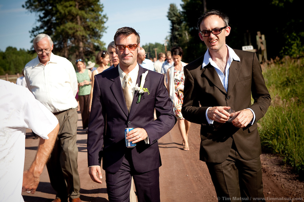Candids from the wedding of Marshall and Megan in Mazama, Washington.