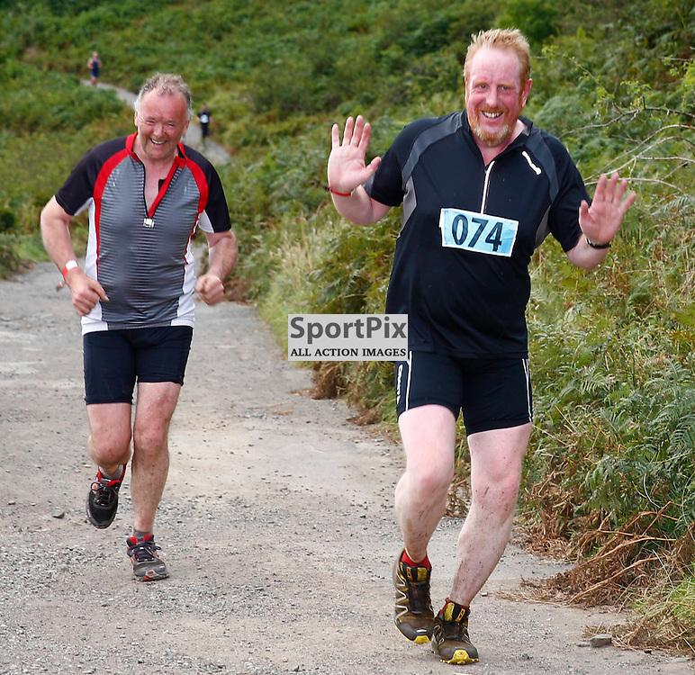 CRAGGY ISLAND TRIATHLON..... David Crisp (L) and Martin Hadlington (R) competing in Craggy Island Triathlon..(c) STEPHEN LAWSON | SportPix.org.uk