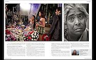 スエーデンの写真雑誌 &quot;Kamera &amp; bild&quot;<br /> クリスティーナ ショーグレンの特集記事<br /> <br /> 写真 左より<br /> インド ボリウッドの映画撮影セット<br /> <br /> Union Carbide chemical diaster被害者の女性<br /> インド ブパールにて <br /> <br /> - A Bollywood film set.<br /> - A woman in Bhopal whos health is effected by the Union Carbide chemical diaster.
