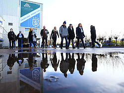 Fans arrive at The John Smiths Stadium for the Premier League Fixture between Huddersfield Town and Bournemouth - Mandatory by-line: Robbie Stephenson/JMP - 11/02/2018 - FOOTBALL - The John Smith's Stadium - Huddersfield, England - Huddersfield Town v Bournemouth - Premier League