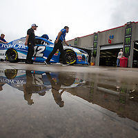 May 18, 2018 - Concord, North Carolina, USA: Kyle Larson (42) gets ready to qualify for the Monster Energy All-Star Race at Charlotte Motor Speedway in Concord, North Carolina.