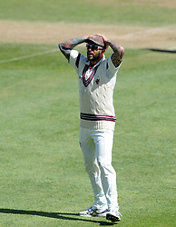 Dejection for Somerset's Peter Trego- Photo mandatory by-line: Harry Trump/JMP - Mobile: 07966 386802 - 29/04/15 - SPORT - CRICKET - LVCC Division One - County Championship - Somerset v Middlesex - Day 4 - The County Ground, Taunton, England.