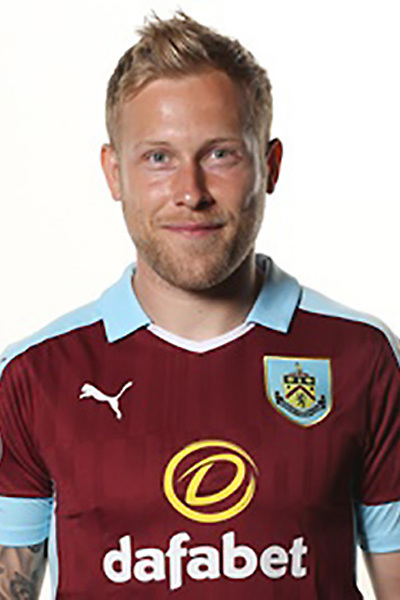 BURNLEY, ENGLAND - JULY 20:  Scott Arfield of Burnley poses during the Premier League portrait session on July 20, 2016 in Burnley, England. (Photo by Barrington Coombs/Getty Images for Premier League)