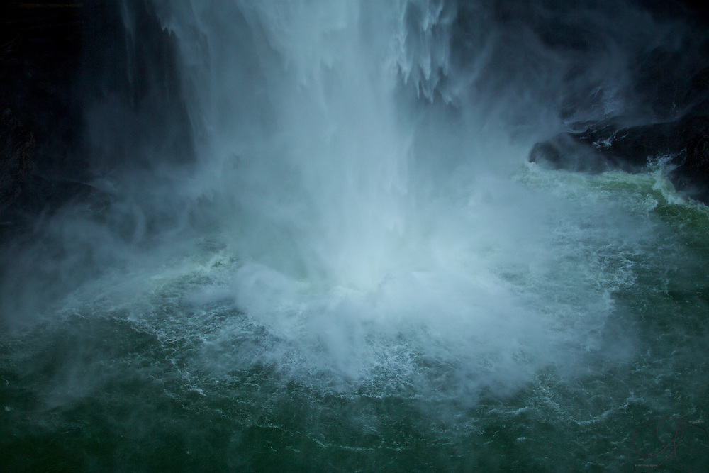 Impact zone of the Snoqualmie falls
