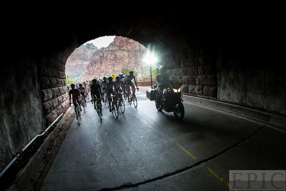 ZION NATIONAL PARK, UT - AUGUST 1:   Larry H. Miller Tour of Utah - Stage 1 - Zion National Park on August 1, 2016 in Zion National Park, Utah. (Photo by Jonathan Devich/Getty Images) *** LOCAL CAPTION ***
