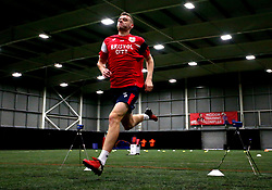 Aden Baldwin sprints Bristol City Under 23's return to training with fitness testing ahead of the 2017/18 season - Mandatory by-line: Robbie Stephenson/JMP - 30/06/2017 - FOOTBALL - SGS Wise Campus - Bristol, United Kingdom - Bristol City Under 23's Fitness Tests