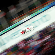 Winter Olympics, Vancouver, 2010.The Canada Two team of Pierre Lueders and Jesse Lumsden in action during the Bobsleigh Two man competition at Whistler Sliding Centre, Whistler, during the Vancouver Winter Olympics. 21th February 2010. Photo Tim Clayton