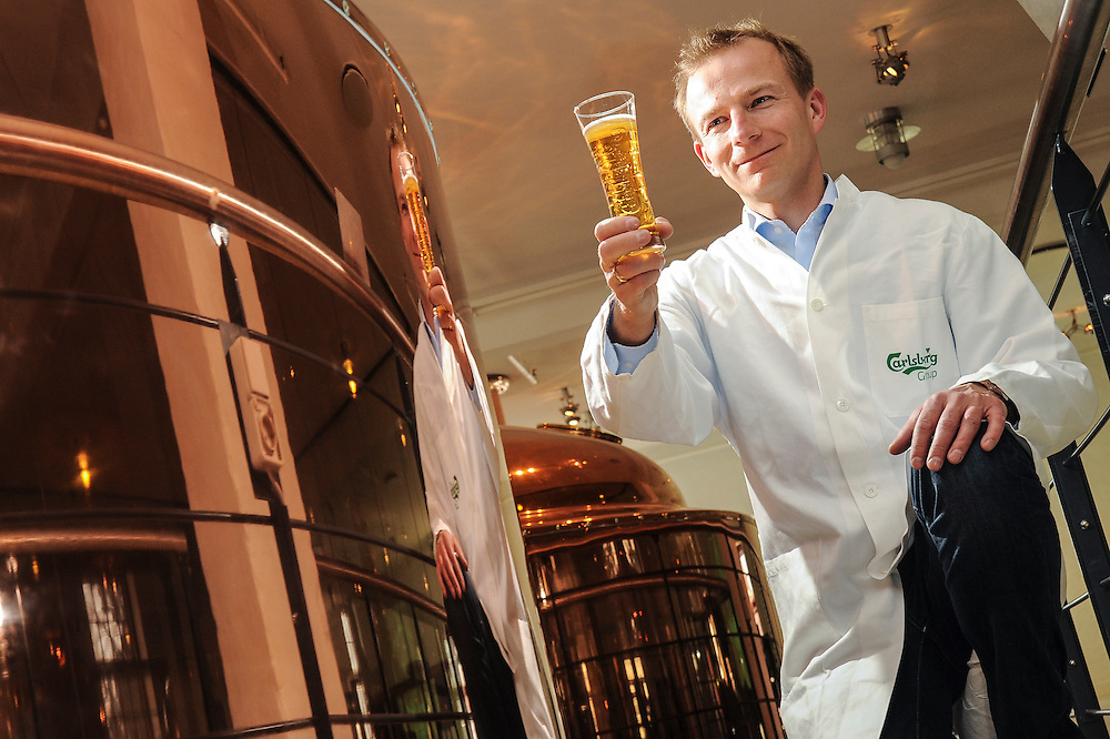 Chief beer taster Morten Ibsen samples another Carlsberg beer at the company's Copenhagen brewery in Valby
